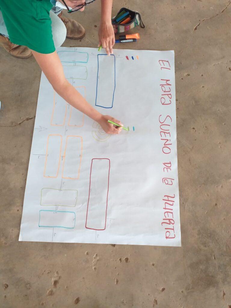 L'école des jeunes pousses: construction du potager